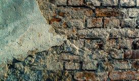 Muro di mattoni incrinato Fotografia Stock Libera da Diritti