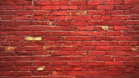 Muro di mattoni invecchiato rosso Immagine Stock Libera da Diritti