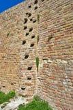 Muro di mattoni medievale Kalemegdan, Belgrado immagine stock libera da diritti