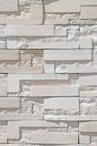 Muro di mattoni moderno bianco Fotografia Stock
