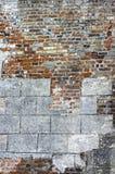 Muro di mattoni molto vecchio Immagine Stock