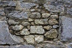 Muro di mattoni molto vecchio Fotografie Stock Libere da Diritti
