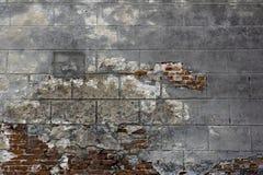Muro di mattoni molto vecchio Fotografia Stock