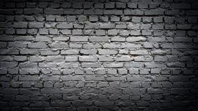 Muro di mattoni nero come fondo Fotografie Stock Libere da Diritti