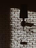 Muro di mattoni, parete della lampada Fotografie Stock