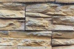 Muro di mattoni di pietra marrone del primo piano Immagine Stock Libera da Diritti