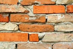 Muro di mattoni, primo piano immagine stock