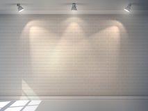 Muro di mattoni realistico Immagine Stock