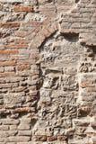 Muro di mattoni riparato Immagini Stock