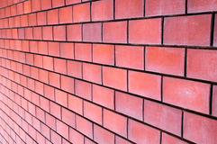 Muro di mattoni rosso Fotografie Stock Libere da Diritti
