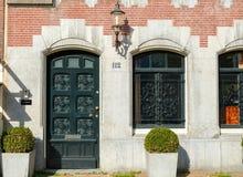 Muro di mattoni rosso Amsterdam, Paesi Bassi fotografie stock