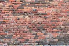 muro di mattoni Rosso-arancio 1 Immagini Stock Libere da Diritti