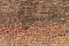 muro di mattoni Rosso-arancio 4 Immagine Stock Libera da Diritti