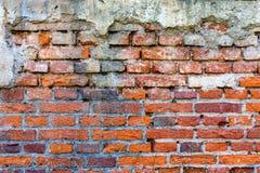 muro di mattoni Rosso-arancio 9 Fotografie Stock