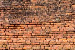 muro di mattoni Rosso-arancio 2 Fotografia Stock
