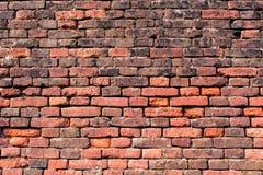 muro di mattoni Rosso-arancio 1 Fotografia Stock