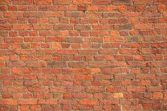 Muro di mattoni rosso d'annata Fotografie Stock