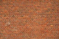 Muro di mattoni rosso d'annata Fotografia Stock Libera da Diritti