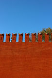 Muro di mattoni rosso di Mosca Kremlin Immagine Stock