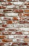 Muro di mattoni rosso dipinto bianco struttura, fondo, progettazione immagine stock libera da diritti