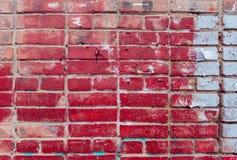 Muro di mattoni rosso e bianco Fotografia Stock