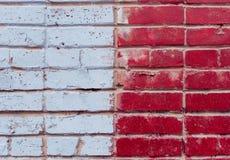 Muro di mattoni rosso e bianco Immagini Stock