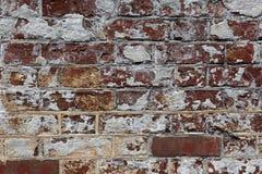 Muro di mattoni rosso e bianco di era della guerra civile fotografia stock libera da diritti