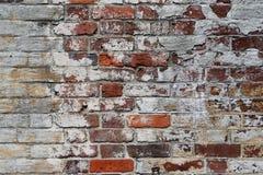 Muro di mattoni rosso e bianco di era della guerra civile fotografia stock