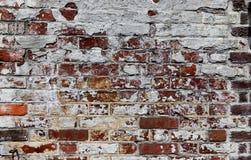 Muro di mattoni rosso e bianco di era della guerra civile immagine stock libera da diritti