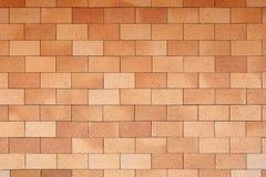 Muro di mattoni rosso fine Fotografie Stock Libere da Diritti