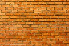 Muro di mattoni rosso, fondo strutturato del muro di mattoni vuoto immagini stock libere da diritti