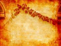 Muro di mattoni rosso Grungy Fotografia Stock