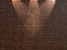 muro di mattoni rosso incorniciato, particolari chiari della costruzione, Fotografia Stock Libera da Diritti