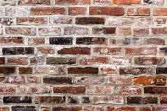 Muro di mattoni rosso stagionato 2 Fotografie Stock Libere da Diritti
