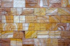 Muro di mattoni rustico delle mattonelle Fotografie Stock