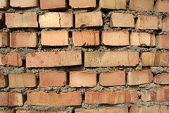 Muro di mattoni ruvido della muratura Immagine Stock