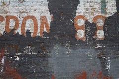 Muro di mattoni sbiadito Fotografia Stock Libera da Diritti
