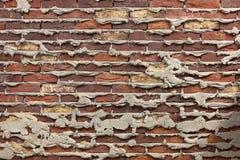 Muro di mattoni scuro molto vecchio Fotografie Stock