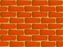 Muro di mattoni senza giunte Fotografia Stock