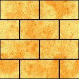 Muro di mattoni senza giunte di struttura fotografia stock