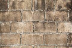 Muro di mattoni sporco, struttura grigia grungy Fotografia Stock Libera da Diritti