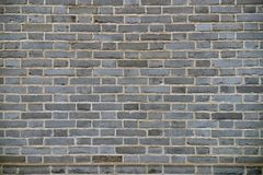 Muro di mattoni di stile cinese Fotografia Stock