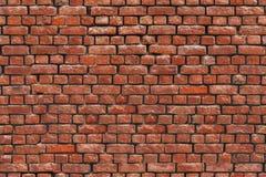 Muro di mattoni di struttura senza cuciture dell'argilla rossa Fotografia Stock