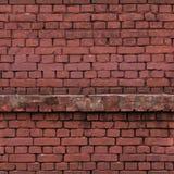 Muro di mattoni, struttura senza cuciture, mattonelle Fotografia Stock Libera da Diritti