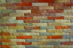 Muro di mattoni strutturato Fotografie Stock