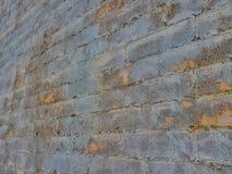 Muro di mattoni strutturato multitoned Grey Fotografie Stock