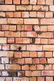 Muro di mattoni su un cantiere come fondo Fotografia Stock