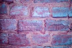 Muro di mattoni ultravioletto e rosa Retro modo d'annata b di fascino fotografie stock
