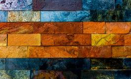 Muro di mattoni variopinto Fotografia Stock Libera da Diritti