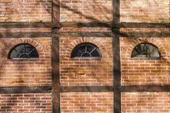 Muro di mattoni vecchio Immagini Stock Libere da Diritti